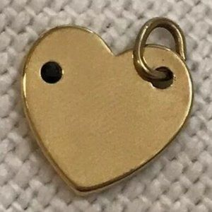 Fabfitfun Heart Pendant Charm For Necklace Gold
